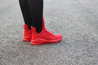 basketball lights - 2016 New Rihanna Fenty Trainer High women mens Basketball Shoes Red Black White Sport Running Sneakers US Size