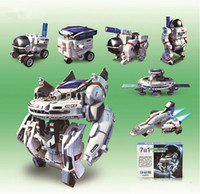 Wholesale New seven in the solar space fleet DIY Self assembling robot puzzle New in Solar Robot