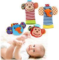 bebe sounds - Infant soft handbells hand wrist strap rattles baby toys bebe rattles socks can make sound baby boy girl kids toy gift