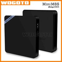 Wholesale Mini M8S Android TV BOX Amlogic S905 Quad Core K H GB GB Bluetooth VS MXQ S805 S905 M8S Plus MINI MX QboxSet Top Box