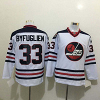Wholesale Top Quality Heritage Classic Winnipeg Jets Ice Hockey Jerseys Cheap Dustin Byfuglien Jersey White Authentic Jerseys Mix Order
