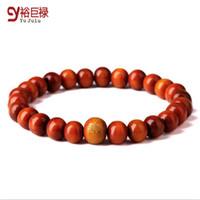 Cheap 2016 New Fashion Bracelets Red Wood Beads Buddha Meditation For Men Women Prayer Bead Bracelet Wooden Jewelry With Gift Box