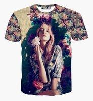 amanda clothing - 2016 fashion new summer D t shirt Amanda Norgaard tee shirts d printed flowers graphics t shirt casual women tops clothing
