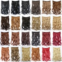Wholesale Cosplay hair Women Curly Wig One piece Long Hair Wigs European and American Hair weft Line Hair Lady Various Wig Long Hair