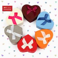Wholesale High Quanlity heart Shape earrings ring box carton gift box jewelry box jewelry boxes