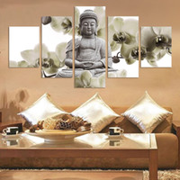 animal marbles - Modern Buddha Painting Picture Home Decoration marble buddha and banboo landscape art canvas2 No Frame