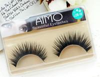Wholesale 1Pair LOR Mink Fake Eyelash Natural Long Thick False Eyelashes Hand Made High Quality Mink Lashes Eye Makeup Brushes Eyelashes