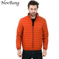 Wholesale Fall New Men Ultra Light White Duck Down Jacket Winter Outdoor One Side Coats Plus Size XL