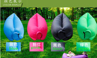 Wholesale 2016 New Lamzac Hangout Fast Inflatable Lounger Air Sleep Camping Sofa KAISR Beach Nylon Fabric Sleeping Bag Bed Lazy Chair ourdoor