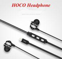 apple digital audio - HOCO Earphone Apple Lightning Earphones for Iphone Iphone plus Digital In Ear Earphones Music Lightning Connector Audio Headphone