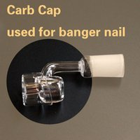 Wholesale quartz carb cap nail banger domeless for dab rigs water pipes glass bongs