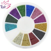 Wholesale Top Nail Color Steels Beads Studs For Nails Metal Caviar Design Wheel Charms D Decorations Nail Art Supplies ZP206