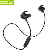 Wholesale 100 Original QCY QY19 Bluetooth Earphone Wireless Bluetooth Headset Portable Sport Stereo Earbuds with Mic for Xiaomi piston