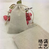 Wholesale Canvas Drawstring Pouches Natural Cotton Laundry Favor Sundries Holder Fashion Jewelry Pouches cm