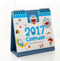 al por mayor organizadores de papel de escritorio-Nuevos productos calientes Año 2017 personajes de dibujos animados lindo del papel de escritorio 3D Calendario de doble Planner Planificador diario Tabla anual del orden del día Organizador