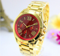 alloy brass - 2016 New Colorful Dial Summer Luxury Fashion Design Ladies Watch Women Full Logo Gold Female Quartz Clock Relojes De Marca Mujer
