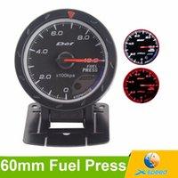 Wholesale 60mm D fi Fuel pressure Gauge Black Face Red White Lighting D fi Gauge Advance Cr Fuel press sensor Auto Gauge Car Meter