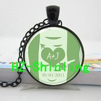 american birch - 2016 New Personalized Initials Necklace Birch Tree Pendant Jewelry Glass Art Picture Necklace U