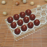 Wholesale 24Cups Polycarbonate Chocolate Mold Creative Expression Choclate DIY Mould Hot Sale Chocolate D Decorating Tools Pastry Tools