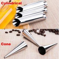 Wholesale New Stainless steel spiral tube anode spiral baked croissants DIY essential Horn baking cake mold
