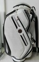 Wholesale golf caddy bag new style Ti PU Golf Bags quot in white