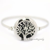 Wholesale 2016 New tree of life Aromatherapy Bracelet L s steel Essential Oils Diffuser Locket Bangle wrist free Felt