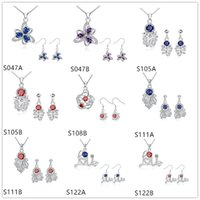 american goldfish - High grade silver Necklace Earring jewelry set GTSS15 flower goldfish women s gemstone sterling silver jewelry sets sets mixed style