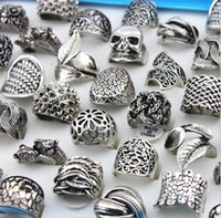 Wholesale 50pcs Mix Style Zinc Alloy Silver Plated Band Ring Toe Rings for Womens Mens Jewelry ring