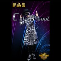 bar shirt - Popular hot bar club male singer male DJ zebra logo long shirt costumes stage
