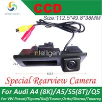 audi trunk - For Audi A4 K A5 S5 T Q5 Porsche Cayenne Car parking camera Trunk handle camera Night vision color waterproof