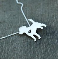 beagles colors - 1PCS Summer fashion cute Beagle dog necklace metal cartoon dog pendant jewelry Silver gold colors plated