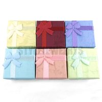 Wholesale Fashion Colorful Display Box Mixed Colors Jewelry Gift Box Ring Box SGB0000