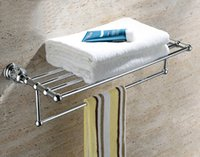 Wholesale Brass Cystal chrome Towel Rack Gold Towel Bar Towel Holder GY008