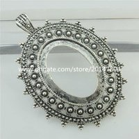 Wholesale 18325 Hollow Antique Frame Setting Base Tray For mm Cameo