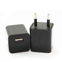 Wholesale HD P EU US Plug Socket Camera AC Charger Adapter Mini Hidden Camcorder