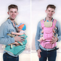 baby backpack sling - Baby Carrier Multifunction Cotton Backpacks Baby Sling Wrap Toddler Boys Chicco Shoulder Front Carriers Pink blue DHL free