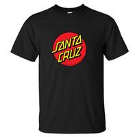 Wholesale New camiseta OEM Skateboard Skate Santa Cruz T Shirt Men Sport Fitness Skate Tshirt Mens Clothing Camisetas Masculinas