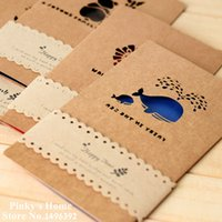 Wholesale PC Vintage Wind Card Hollow Out Kraft Paper Card Cute Postcards Birthday Card Gift Invitation Greeting Cards With Envelop