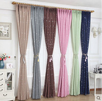 beautiful bedroom colors - Colorful beautiful little stars finished shade curtain six colors full cloth sun heat and UV protection custom curtain