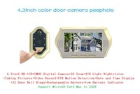 Wholesale 4 inch mirilla digital video door peephole camera doorbell viewer eye support nightvision motion detection X zoom