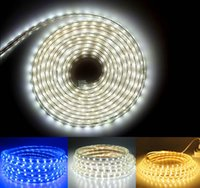 Wholesale Flexible LED Strips M5M10M15M20M30M50M SMD led LED Strip Light Waterproof with power plug Warm White Blue LED strips light