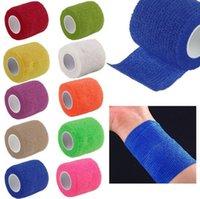 Wholesale 1PCS Self Adhesive Finger Muscles Ankle Elastic Bandage Gauze Dressing Tape