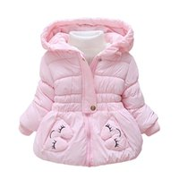 Wholesale 2016 winter New baby Outerwear Coats fashion T baby girls Down Parkas casual warm toddler hooded coats fotr girls