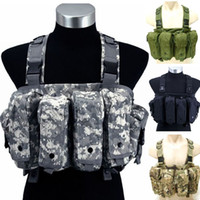 Wholesale Military Tactical Camouflage Vest Airsoft Ammo Chest Rig AK Magazine Carrier Combat