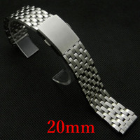 Wholesale 20mm Watchband Bracelets for Men s Watch Silver Color Stainless Steel Strap GD030120