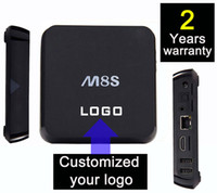 android making - 10PCS Custom Made M8S years warrant Google Smart Android IPTV TV box boxes KODI Blackbox Amlogic S805 S812 K Bluetooth