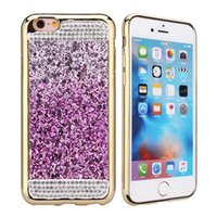 Wholesale 3D Luxury Phone Case For Apple iPhone Plus s Plus SE Crystal Bling Sequin Diamond Electroplating Protective Bumper Shockproof Cases