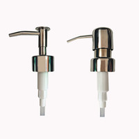 bathroom pumps - Stainless Steel Finish Lotion Dish DIY Hand Soap Sanitizer Dispenser Pump Replacement Bottles Jars Beer Kitchen Bathroom Restaurant Cafe Bar
