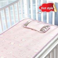 Wholesale The baby mat The pram mat Baby cartoon ice silk mat mat nursery bed linen