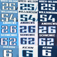 avery sports - Antonio Andrews Jersey Avery Williamson Blidi Wreh Wilson Brett Kern Brian Schwenke American Football Jerseys Elite Sport